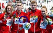 bốm vận động viên3 lần phá kỷ lục bơi lội thế giới